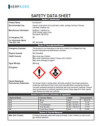 Econokore Safety Data Sheet
