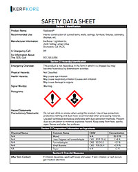 Flexboard Safety Data Sheet
