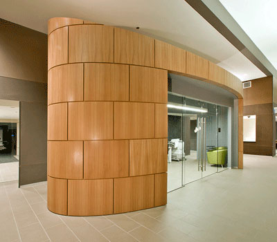 Kerfkore Curved Panels Interior at 500 Lake Shore Drive Apartments