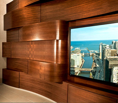 Wavy Wall Interior at 500 Lake Shore Drive Apartments
