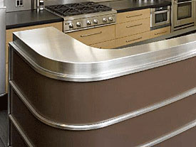 Kerfkore Custom Curved Kitchen Counter