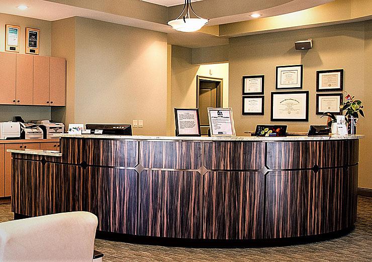 Econokore Sterling Architectural Millwork Reception Desk